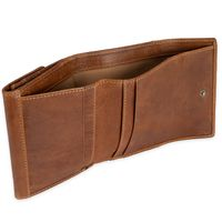 Branco – Small wallet / purse size S made for women made out of leather, cognac brown, model 35250-4