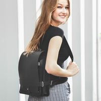Jahn Tasche – Small leather backpack / city bag size S made out of leather, black, model 667-10