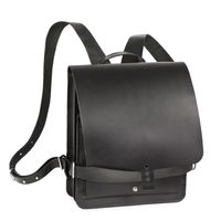 Jahn Tasche – Small leather backpack / city bag size S made out of leather, black, model 667-3