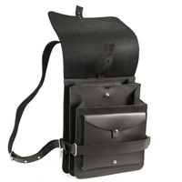 Jahn Tasche – Small leather backpack / city bag size S made out of leather, black, model 667-4
