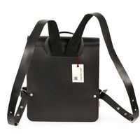 Jahn Tasche – Small leather backpack / city bag size S made out of leather, black, model 667-6