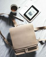 Jahn Tasche – Small leather backpack / city bag size S made out of buffalo leather, grey taupe, model 667-7