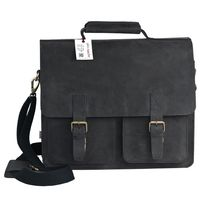 Jahn-Tasche – Large briefcase / teacher bag in size XL made out of buffalo leather, black, model 422