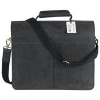 Jahn-Tasche, 422  – Robuste schwarze Aktentasche bzw. Lehrertasche, Rückansicht - 05
