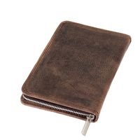 Jahn-Tasche – Large foldable pencil case / exclusive leather etui in size L made out of buffalo leather, brown, model 014
