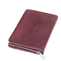 Jahn-Tasche – Large foldable pencil case / exclusive leather etui in size L made out of buffalo leather, rust red, model 014
