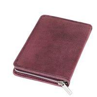 Jahn-Tasche, 014 - Großes Federmäppchen bzw. Stifte-Etui aus Büffelleder in Rost-Rot, Aufsicht geschlossen - 12