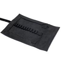 Jahn-Tasche, 015 - Exklusive Stifte-Rolle bzw. Roll-Up-Mäppchen aus Büffelleder in Schwarz, Aufsicht genz geöffnet - 03
