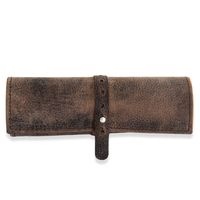 Jahn-Tasche – Exclusive pencil wrap / pencil roll in size L made out of buffalo leather, brown, model 015