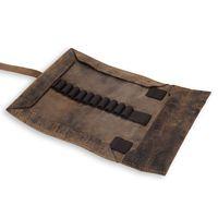 Jahn-Tasche, 015 - Exklusive Stifte-Rolle bzw. Roll-Up-Mäppchen aus Büffelleder in Braun, Aufsicht ganz geöffnet - 03