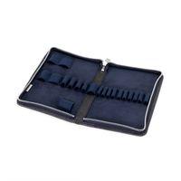 Jahn-Tasche, 420-n  – Robuste blau-schwarze Aktentasche bzw. Lehrertasche, passendes großes Stifteetui geöffnet ohne Inhalt - 08