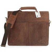 Jahn-Tasche, 420-n  – Robuste braune Aktentasche bzw. Lehrertasche, Rückansicht - 06