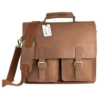 Jahn-Tasche – Large briefcase / teacher bag in size L made out of buffalo leather, cognac brown, model 420-n