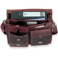 Jahn-Tasche – Large briefcase / teacher bag in size L made out of buffalo leather, rust red, model 420-n-5