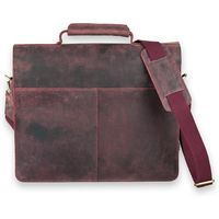 Jahn-Tasche – Large briefcase / teacher bag in size L made out of buffalo leather, rust red, model 420-n-6