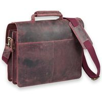 Jahn-Tasche – Large briefcase / teacher bag in size L made out of buffalo leather, rust red, model 420-n-7