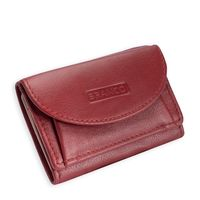 Branco – Small wallet / coin purse size XS made out of leather, raspberry red, model 31105