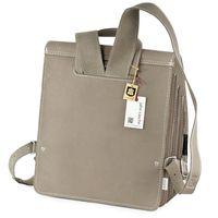 Jahn-Tasche, 668 - Mittelgroßer, beige-grauer Lederrucksack bzw. Lehrerrucksack, Rückansicht - 06